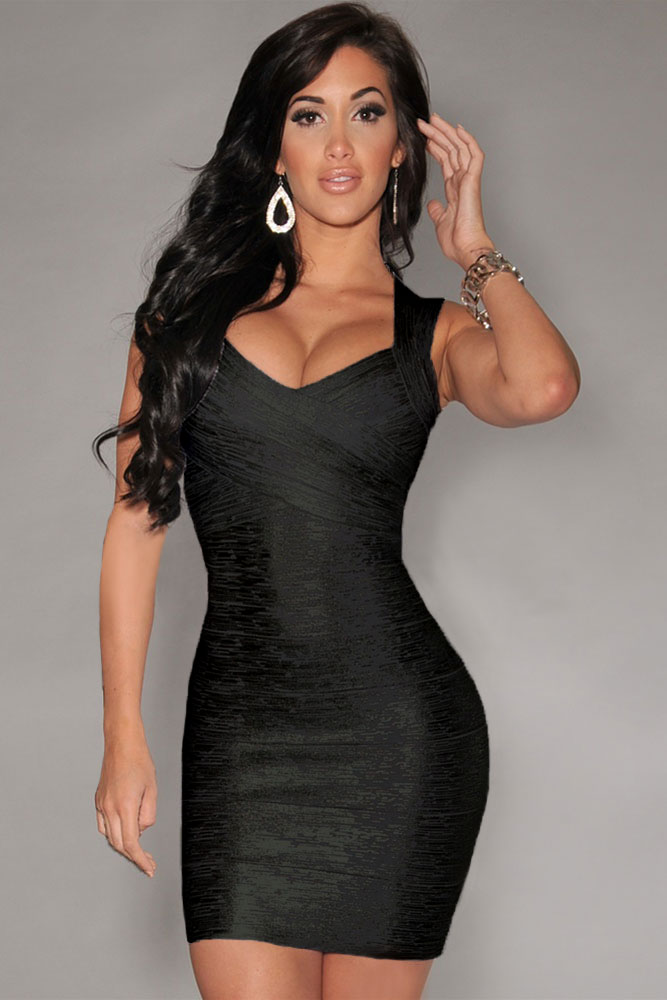 New-Fashion-Black-Foil-Print-Bandage-Dress-Celebrity-Style-LC28072-3-1